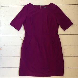 Tahari raspberry dress, from Nordstrom.